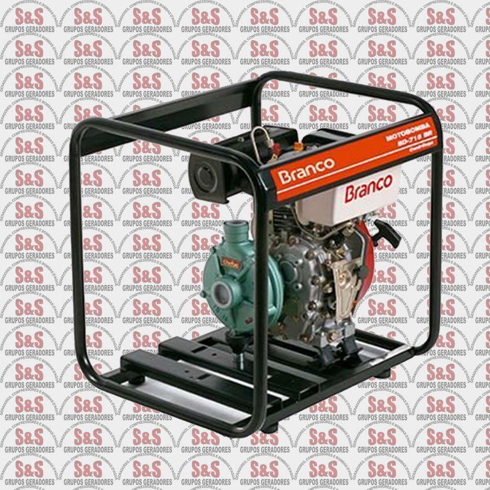"""Motobomba a Diesel de 1.1/2"""" x 1"""" Polegadas - Auto-Escorvante - Motor de 5,0 CV - Partida Manual - BD715 TOP BR - Centrifuga - Branco"""