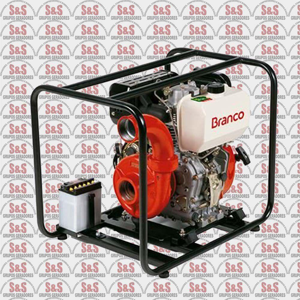 "Motobomba a Diesel de 2.1/2"" x 2.1/2"" Polegadas - Motor de 10,0 CV - Partida Eletrica - BD815I - Centrifuga - Branco"