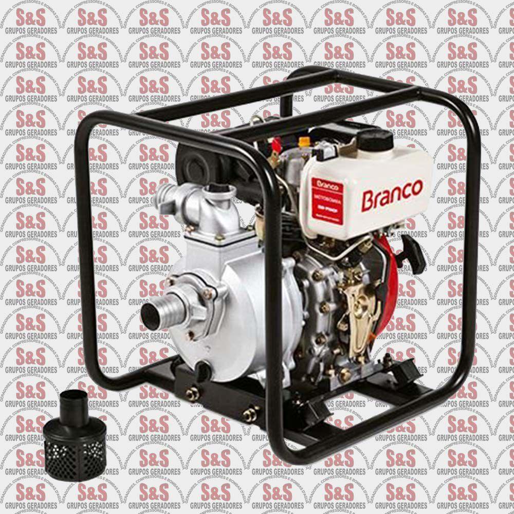 """Motobomba a Diesel de 2"""" x 2"""" Polegadas - Auto-Escorvante - Motor de 5,0 CV - Partida Manual - BD710 CF - Branco"""