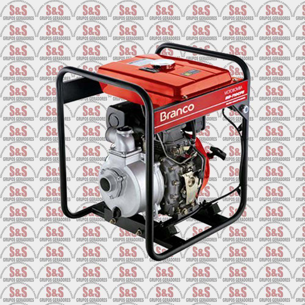 """Motobomba a Diesel de 2"""" x 2"""" Polegadas - Auto-Escorvante - Motor de 5 CV - Partida Elétrica - BD710 CFE - Branco"""