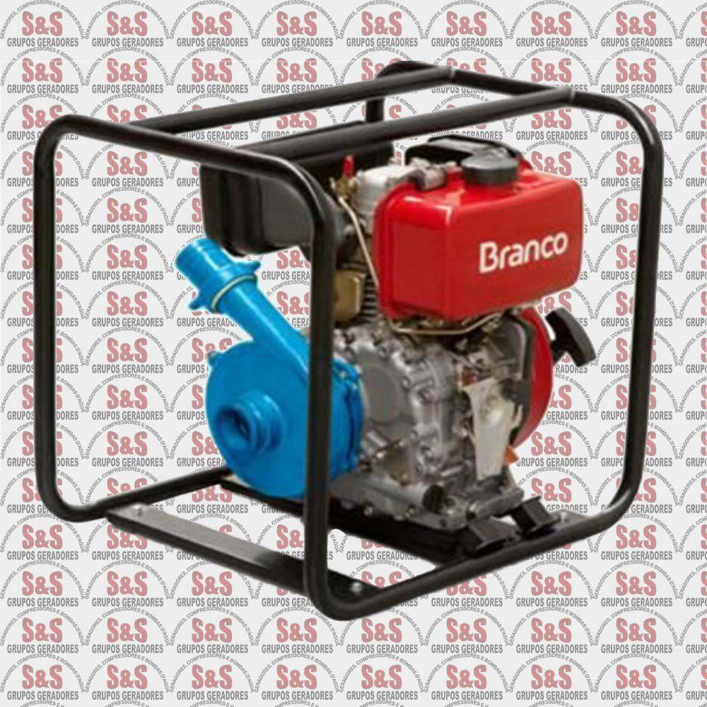 """Motobomba a Diesel de 2"""" x 2"""" Polegadas - Auto-Escorvante - Motor de 7,0 CV - Partida Eletrica - BD716 - Branco"""
