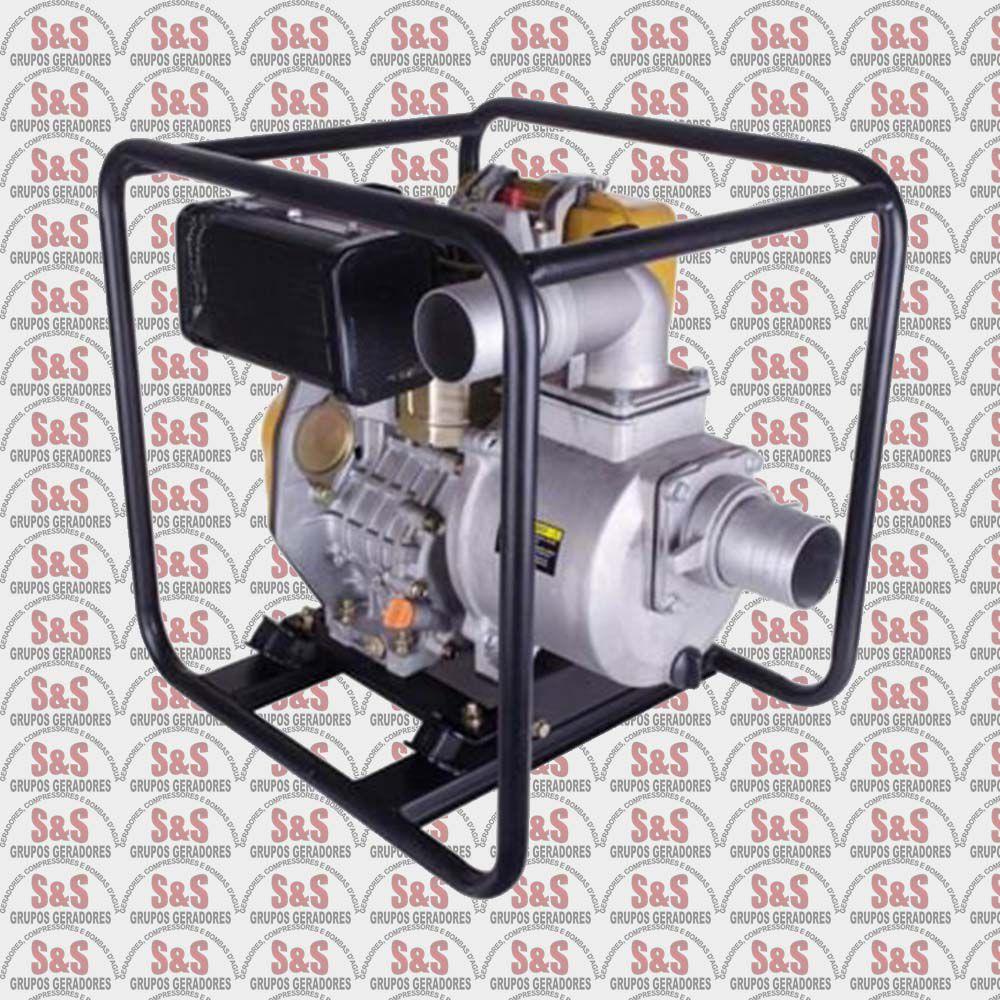 """Motobomba a Diesel de 2"""" x 2"""" Polegadas - Auto-Escorvante - Motor de 7,0 CV - Partida Elétrica / Manual - BFD 3"""" - Buffalo"""