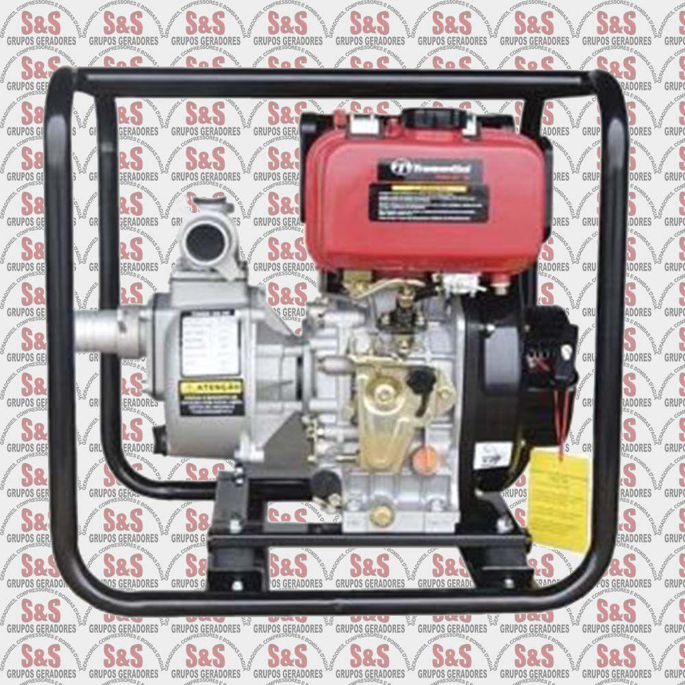 """Motobomba a Diesel de 2"""" x 2"""" Polegadas - Refrigerado a Ar - Motor de 6.7 CV - 4 Tempos - TMBD 50-26 - Tramontini"""