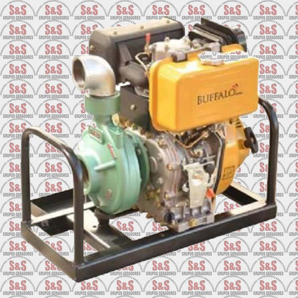 """Motobomba a Diesel de 3"""" x 2.1/2"""" Polegadas - Motor de 12,0 CV - Partida Eletrica - BFDE 3"""" x 2.1/2"""" Chorume - Buffalo"""