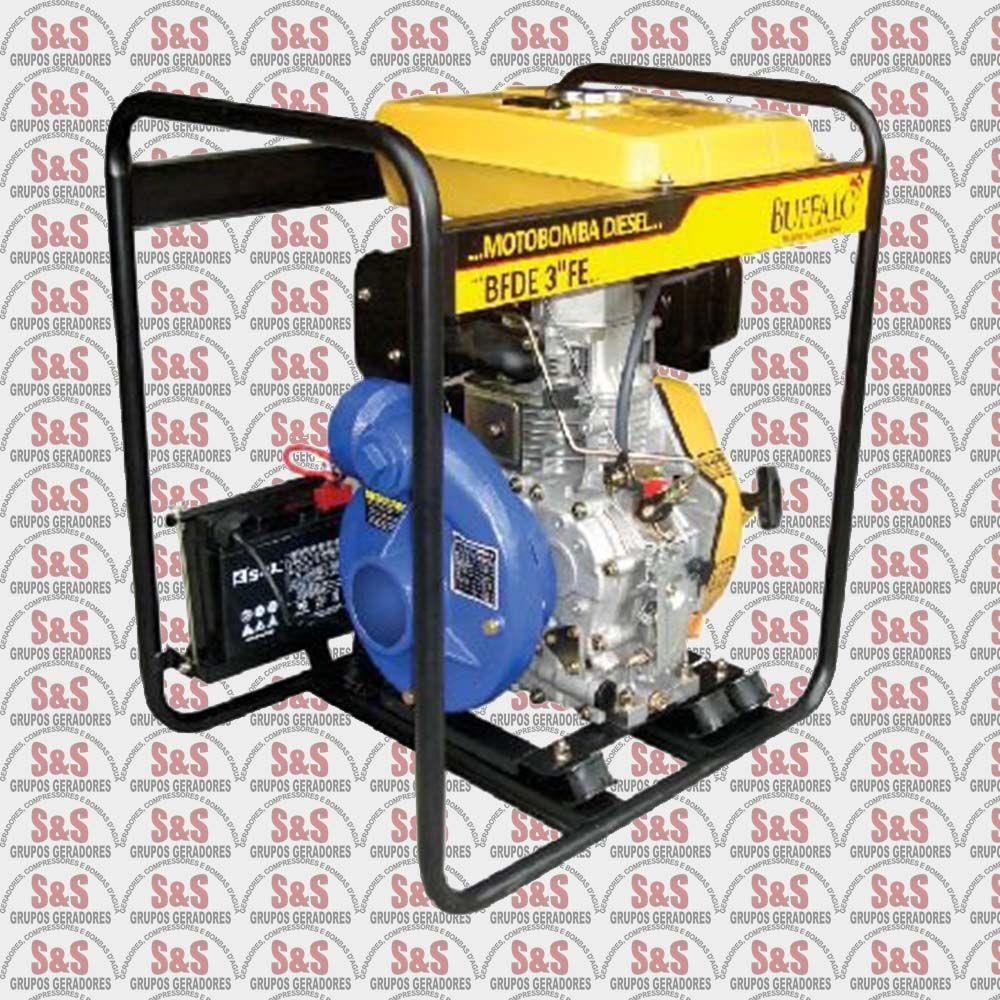 """Motobomba a Diesel de 3"""" x 3"""" Polegadas - Motor de 10,0 CV - Partida Eletrica - BFDE 3"""" Ferro Fundido - Buffalo"""