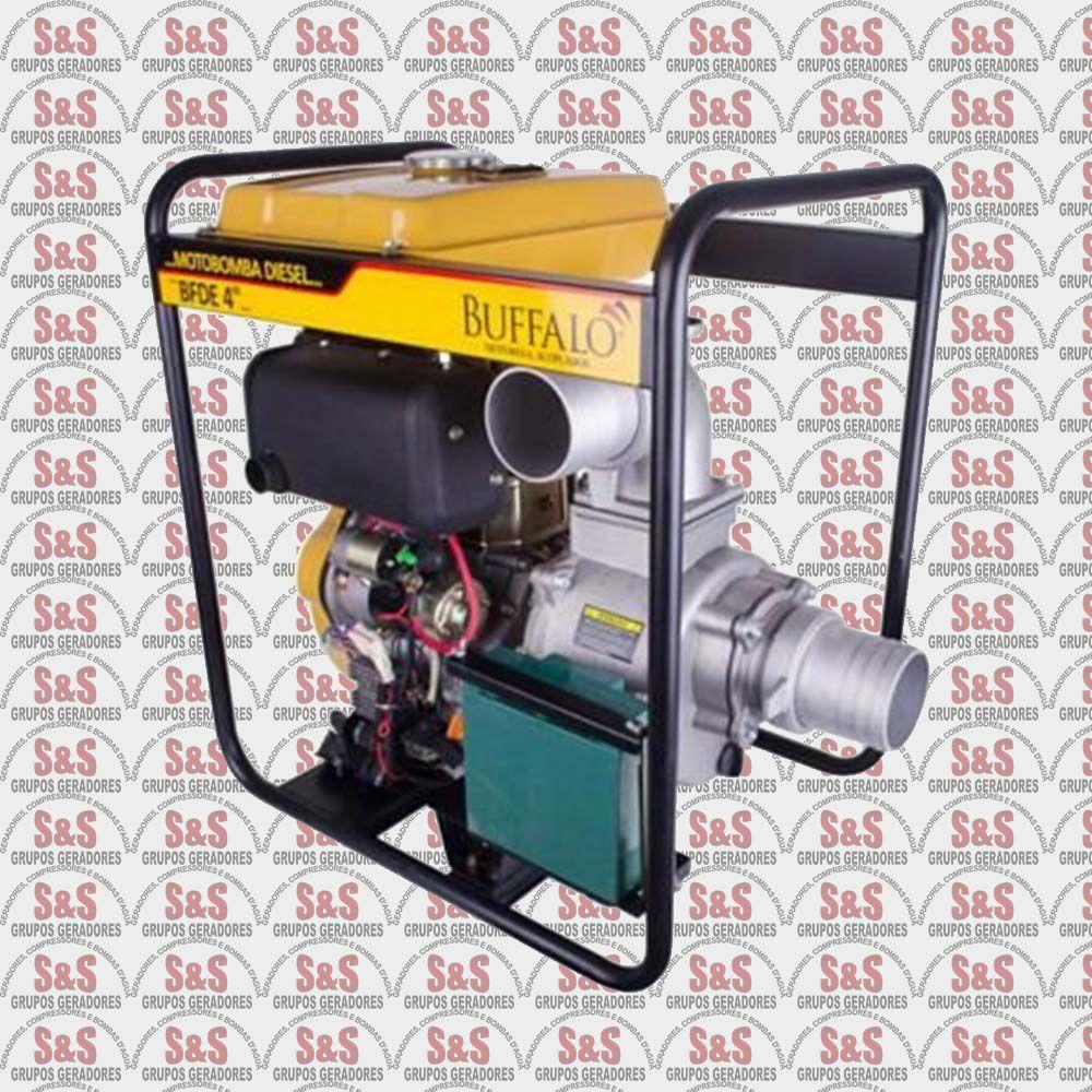 """Motobomba a Diesel de 4"""" x 4"""" Polegadas - Auto-Escorvante - Motor de 10,0 CV - Partida Elétrica - BFDE 4"""" - Buffalo"""