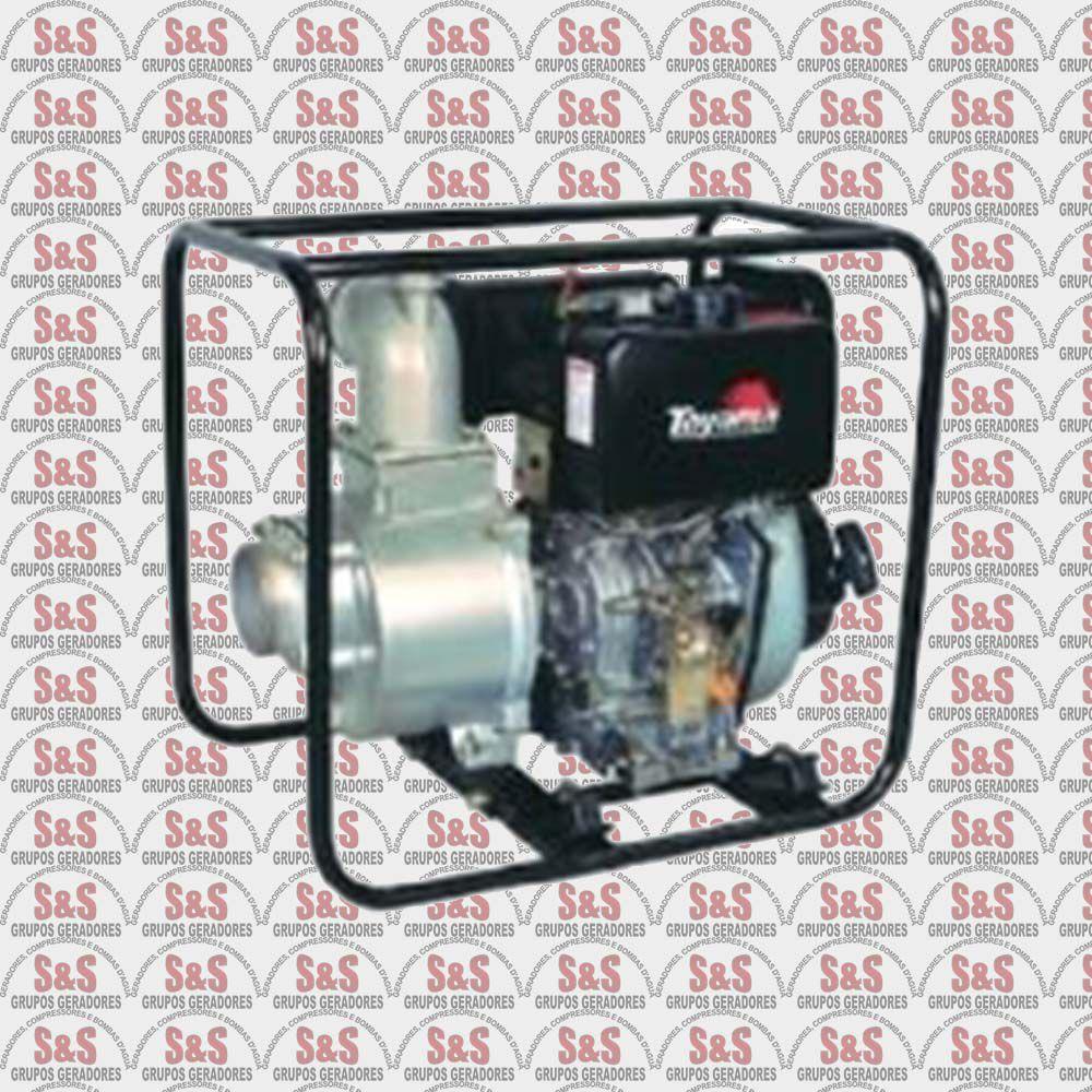 """Motobomba a Diesel de 4"""" x 4"""" Polegadas - Auto-Escorvante - Motor de 10 CV - 4 Tempos - Vazão Máxima de 96 m3/h - TDAE4S100C - Toyama"""