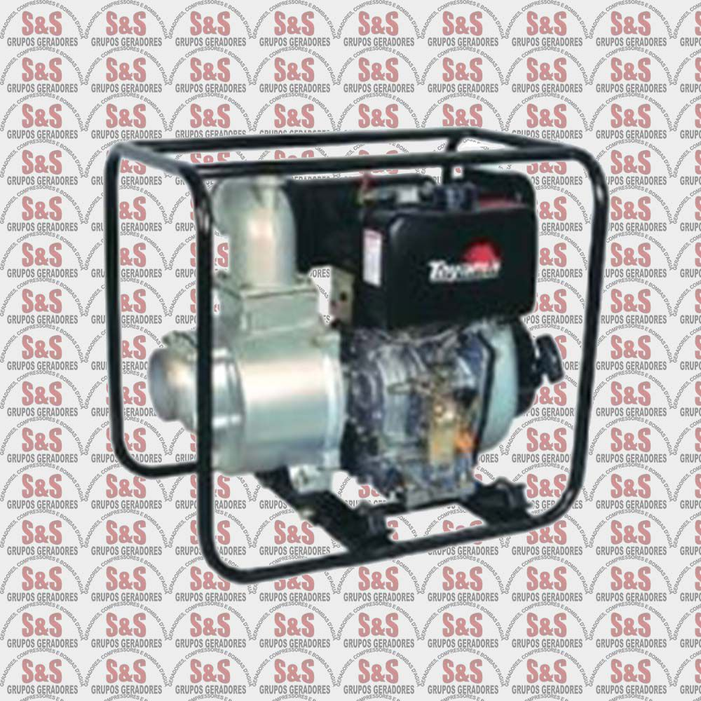 "Motobomba a Diesel de 4"" x 4"" Polegadas - Auto-Escorvante - Motor de 10 CV - 4 Tempos - Vazão Máxima de 96 m3/h - TDAE4S100CE - Toyama"