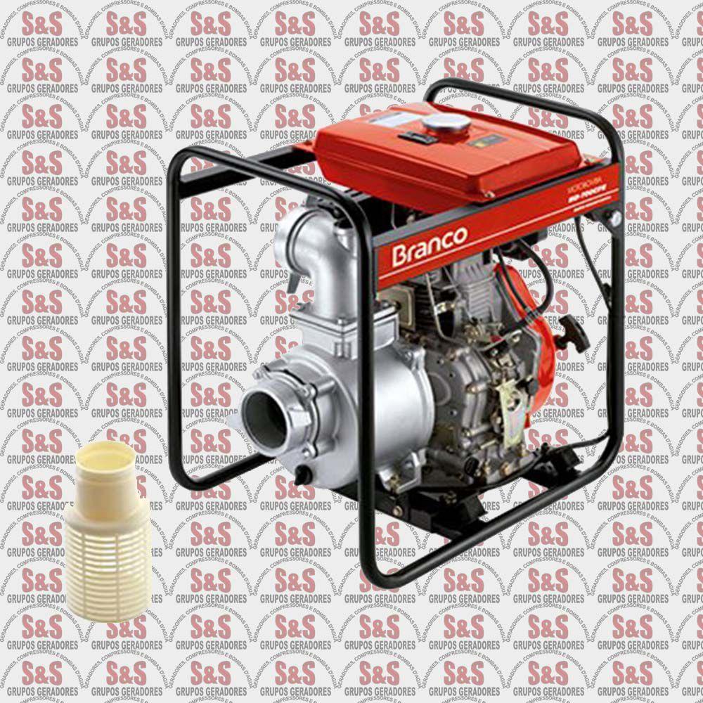 """Motobomba a Diesel de 4"""" x 4"""" Polegadas - Auto-Escorvante - Motor de 10 CV - Partida Elétrica - BD700CFE - Branco"""