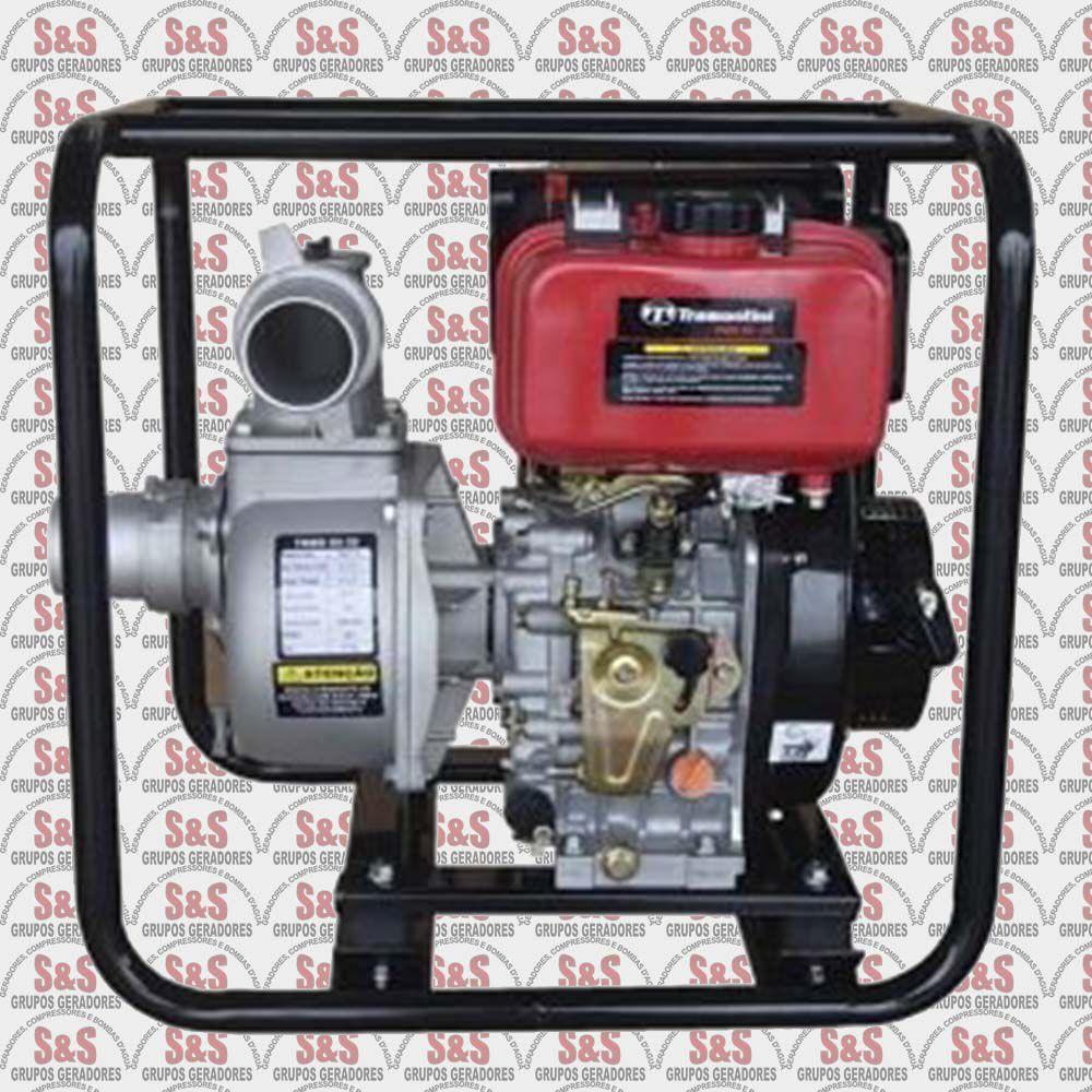"""Motobomba a Diesel de 4"""" x 4"""" Polegadas - Refrigerado a Ar - Motor de 10.2 CV - 4 Tempos - TMBD 100-26 - Tramontini"""
