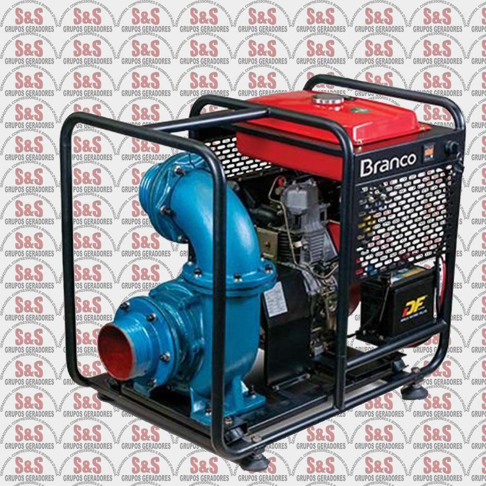 """Motobomba a Diesel de 6"""" x 6"""" Polegadas - Auto-Escorvante - Motor de 13,0 CV - Partida Eletrica - BD720E - Centrifuga - Branco"""