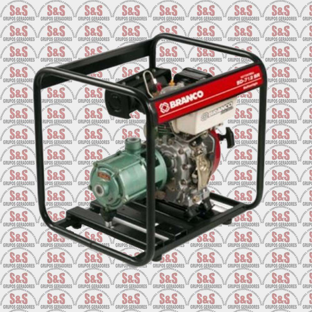 "Motobomba a Gasolina de 1"" x 1"" Polegadas - Auto-Escorvante - Motor de 5,5 CV - 4 Tempos - Partida Manual -  B4T712 - Branco"