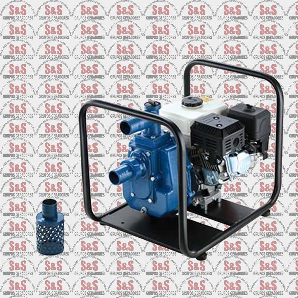 "Motobomba a Gasolina de 2"" x 2"" Polegadas - Auto-Escorvante - Motor de 5,5 CV - Partida Manual - BD-710FE - Branco"