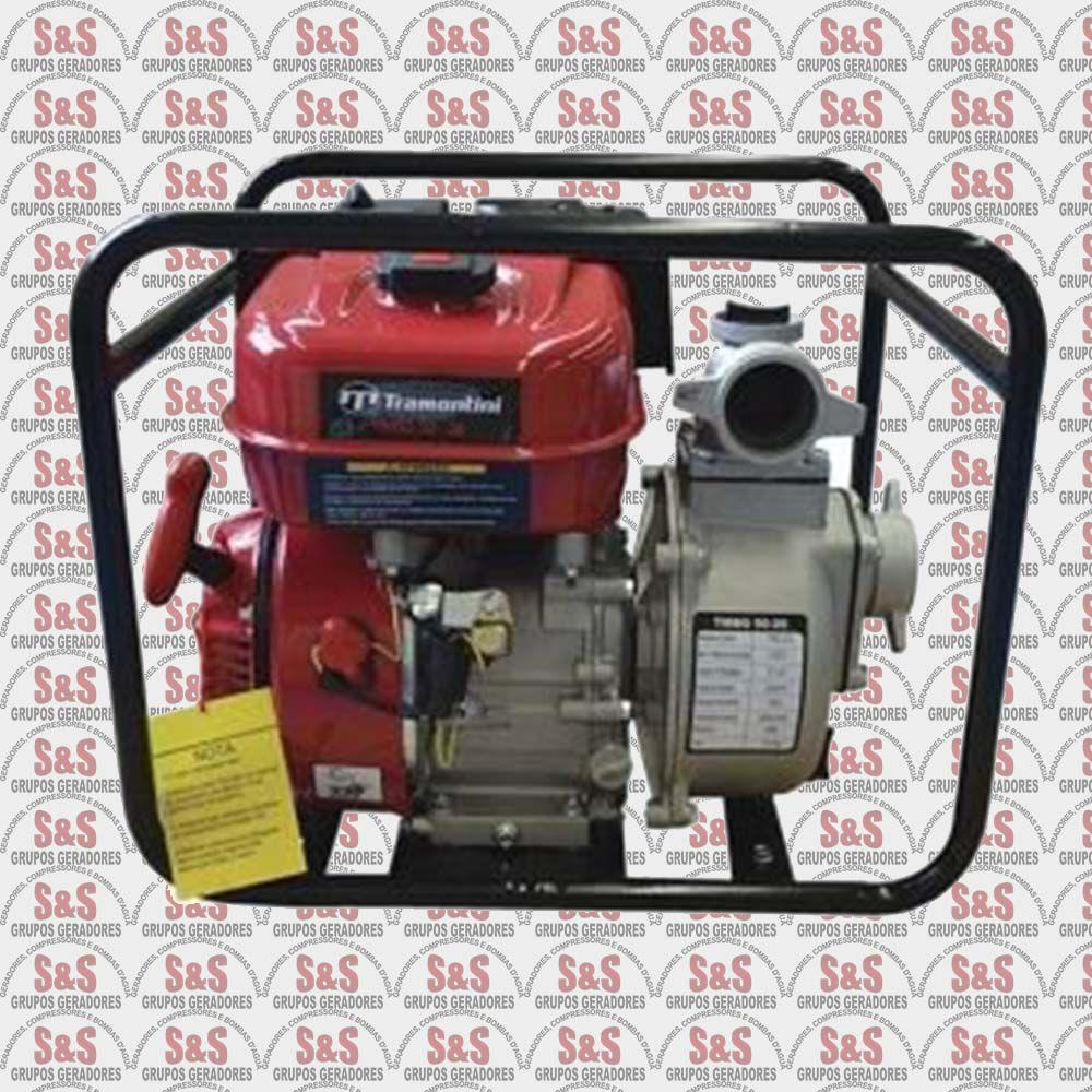 """Motobomba a Gasolina de 2"""" x 2"""" Polegadas - Refrigerado a Ar - Motor de 5.5 CV - 4 Tempos - TMBG50-26 - Tramontini"""