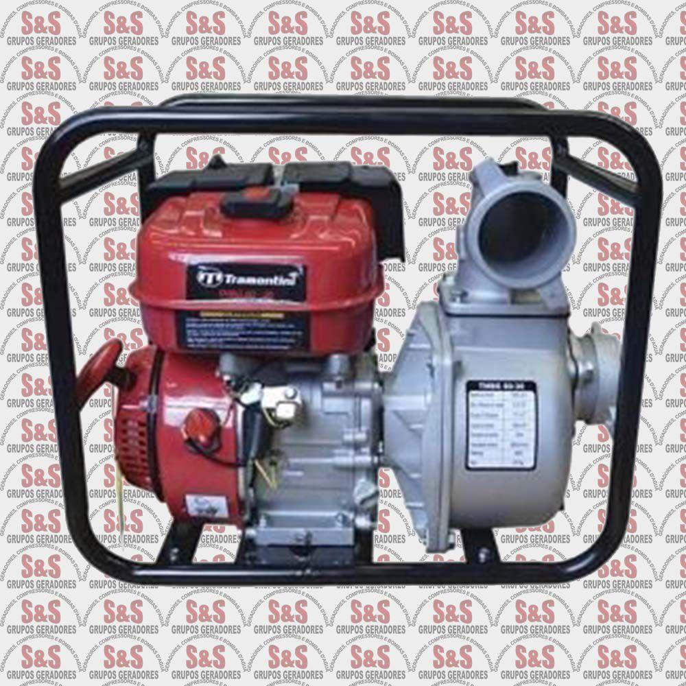 """Motobomba a Gasolina de 3"""" x 3"""" Polegadas - Refrigerado a Ar - Motor de 6.5 CV - 4 Tempos - TMBG 80-30 - Tramontini"""