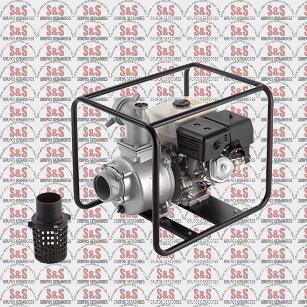 "Motobomba a Gasolina de 4"" x 4"" Polegadas - Auto-Escorvante - Motor de 8,0 CV - Partida Manual - B4T700L - Branco"