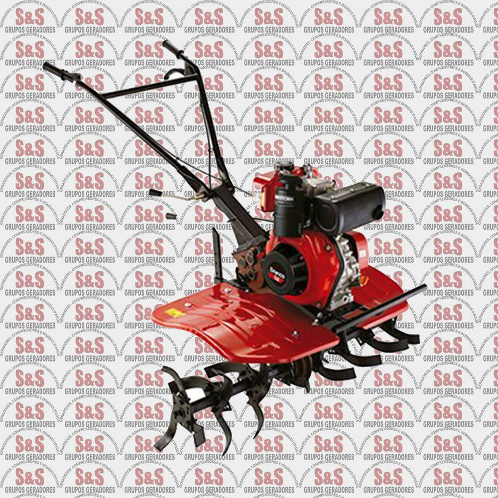 Motocultivador Tratorito a Diesel - Motor de 5 CV - Largura de Corte 800mm - BTTD5.0-800 - Branco