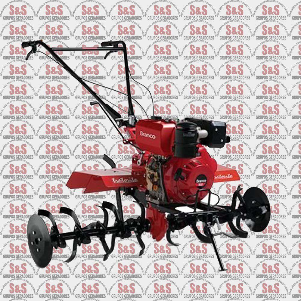 Motocultivador Tratorito a Diesel - Partida Manual - Motor de 10,0 CV - Largura de Corte 1.350mm - BTTD10.0-1350 - Branco