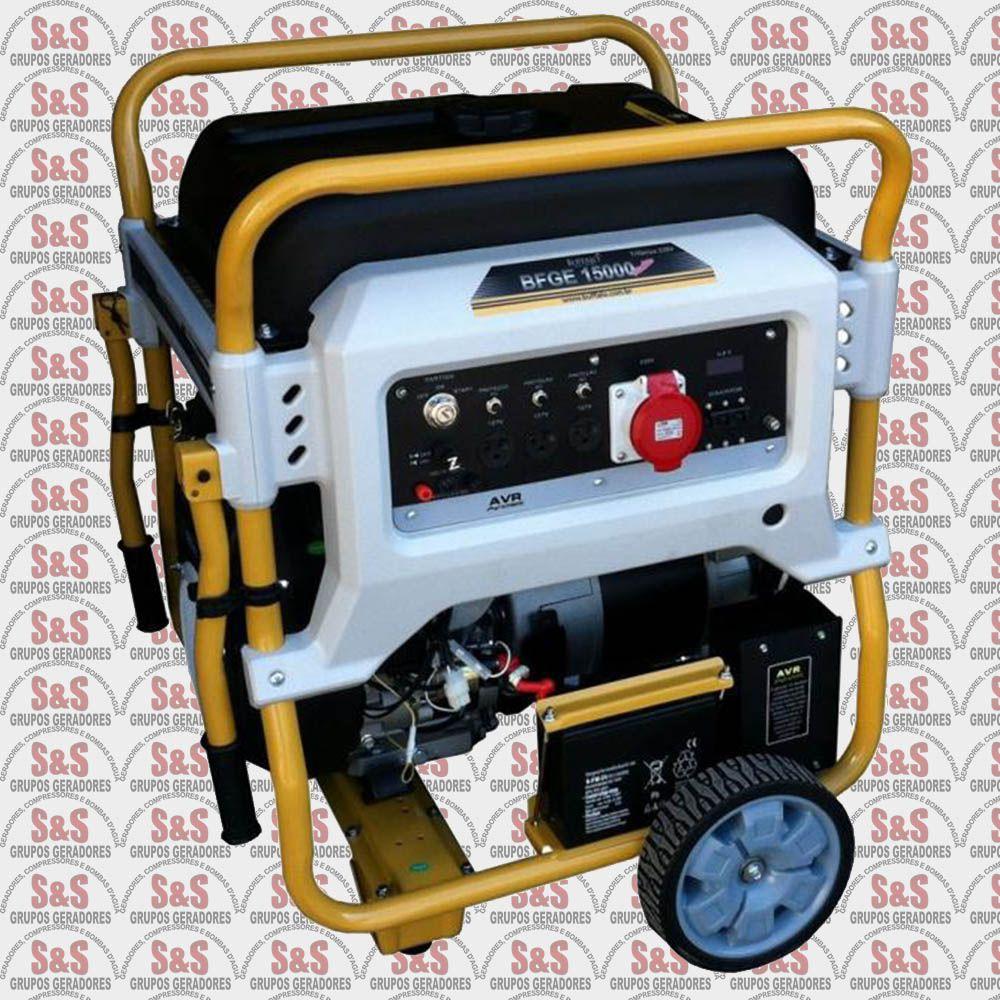 Motogerador a Gasolina - Trifásico 220V  Partida Elétrica - BFGE15000 - Buffalo