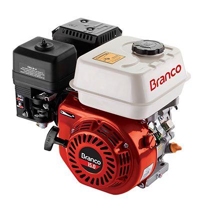 Motor a Gasolina - 4 Tempos - 15 CV - Partida Eletrica - B4T15,0 - Branco