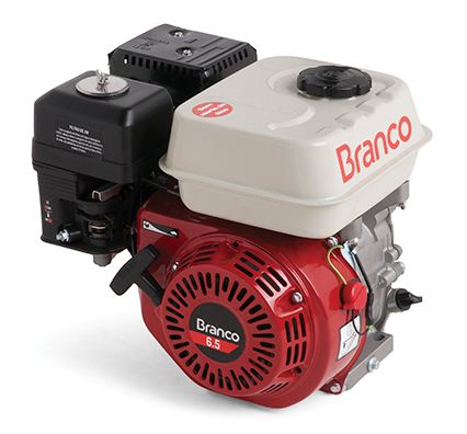 Motor a Gasolina - 4 Tempos - 6,5 CV - Partida Manual - B4T6,5  - Com Alerta de Òleo - Branco