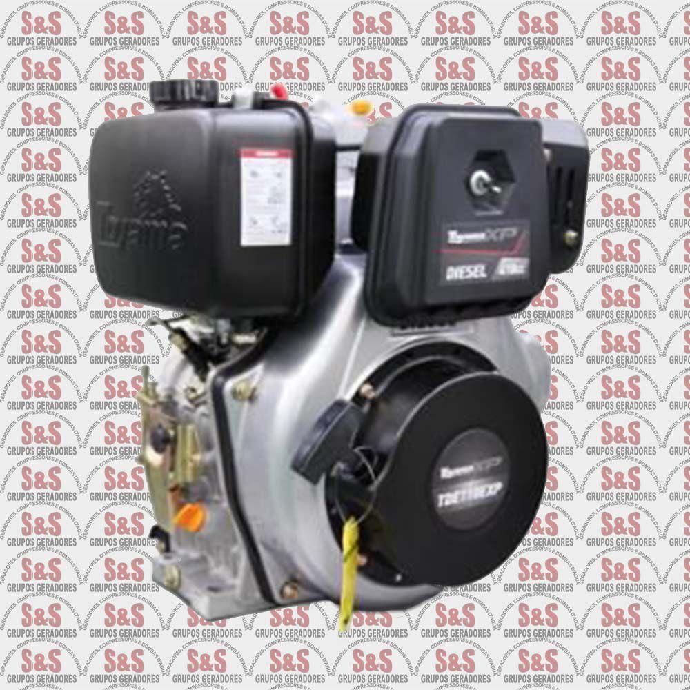 Motor a Diesel - 4 Tempos - 11.0 HP- Eixo 1'' - Chaveta/Rosca - Multiuso - Part. Eletrica - TDE110EXP- Toyama