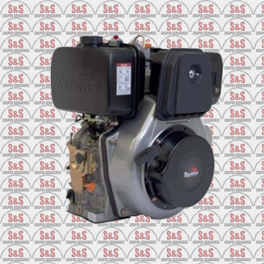 """Motor a Diesel - 4 Tempos - 13 HP - Eixo 1"""" - Partida Elétrica com carregador 12V - TDE130EXP - Toyama"""