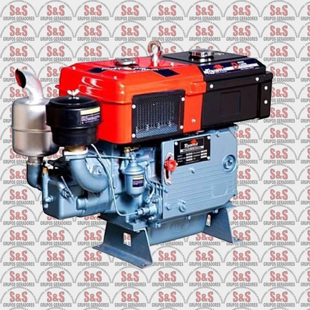 Motor a Diesel - 4 Tempos - 16.5 HP - Refrigerado a água - Partida Elétrica - TDW18R-XP- Toyama
