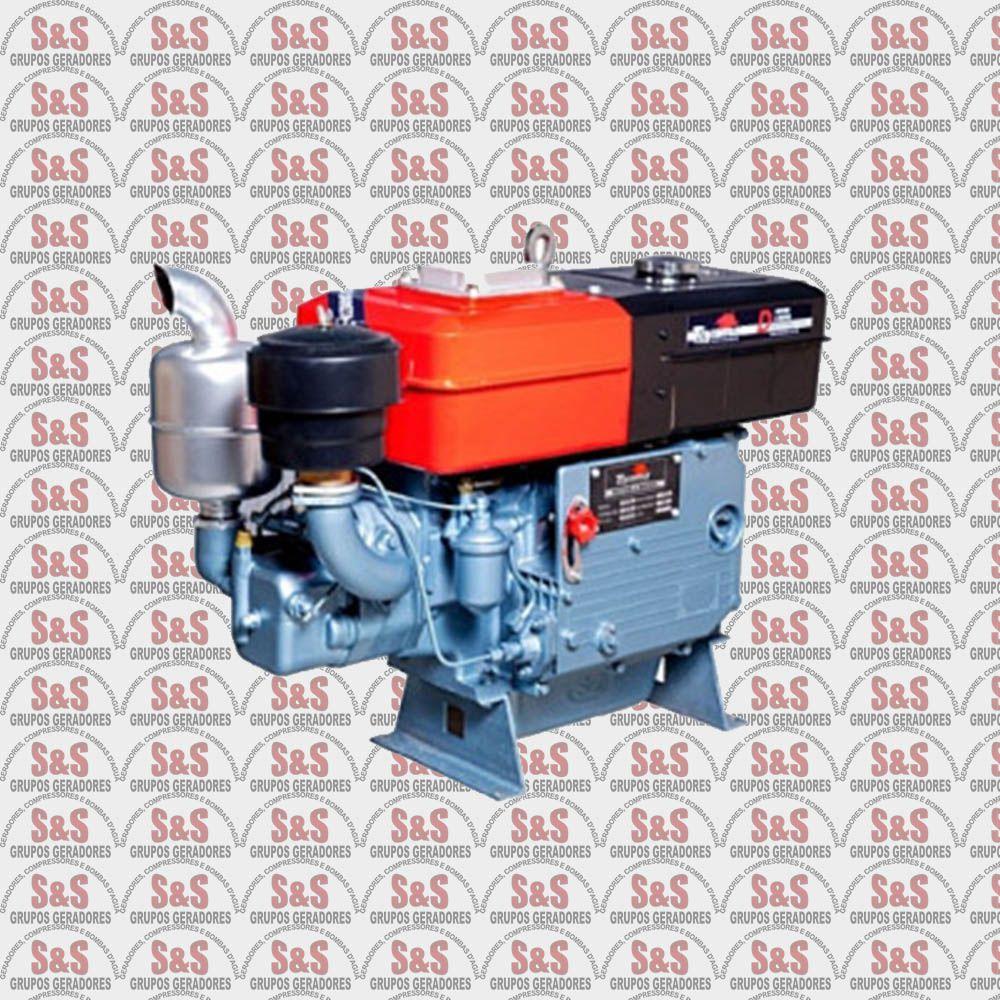 Motor a Diesel - 4 Tempos - 16.5 HP - Refrigerado a água por sifão - TDW18D2 - Toyama
