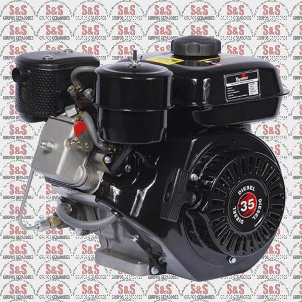 "Motor a Diesel - 4 Tempos - 3 HP - Eixo 3/4"" - TDE35S - Toyama"