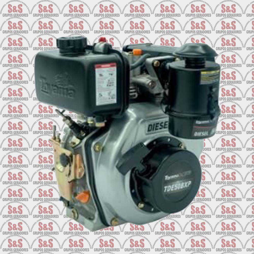 "Motor a Diesel - 4 Tempos - 4.7 HP com filtro a óleo - Partida manual - Eixo 3/4"" - TDE50BXP - Toyama"