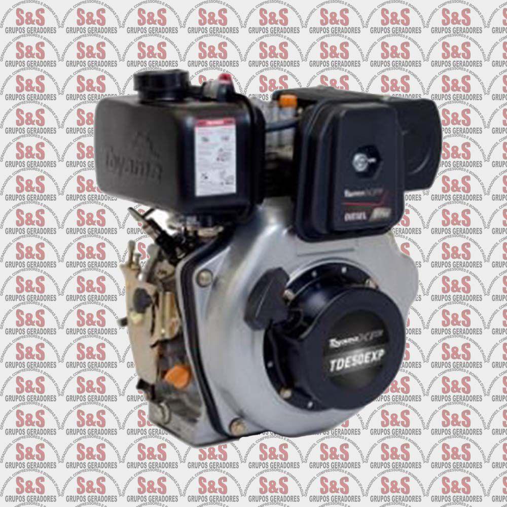 "Motor a Diesel - 4 Tempos - 4.7 HP - Partida Eletrica - Eixo 3/4"" - TDE50EXP - Toyama"