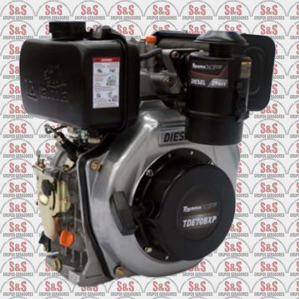 "Motor a Diesel - 4 Tempos - 6.7 HP com filtro a óleo - Eixo 1"" - TDE70BXP - Toyama"