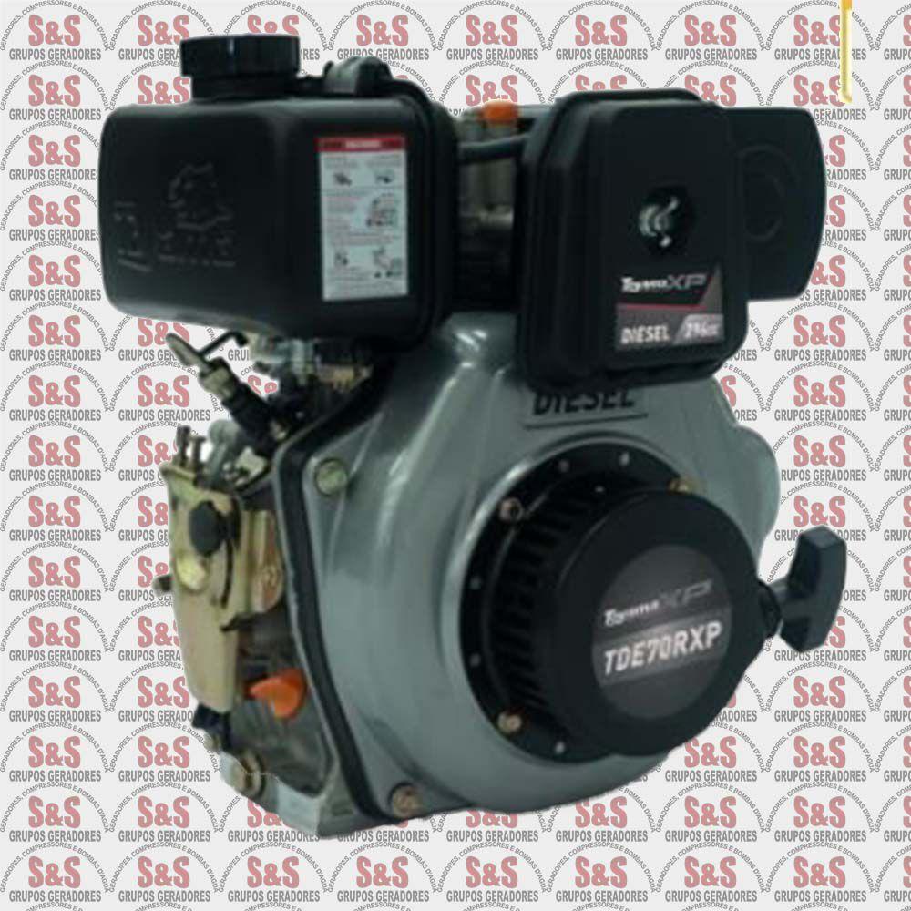 """Motor a Diesel - 4 Tempos - 6.7 HP - Eixo 1"""" com redução 2:1 - TDE70RXP - Toyama"""