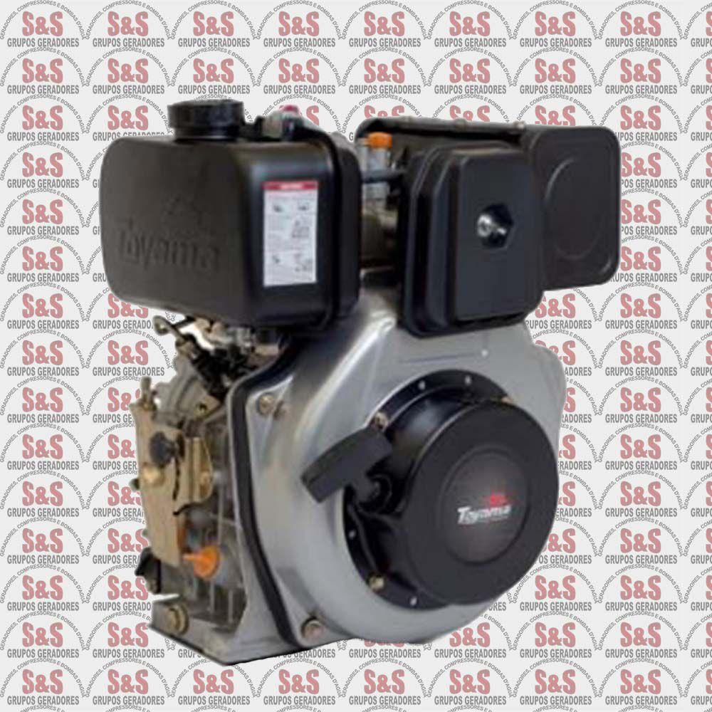 "Motor a Diesel - 4 Tempos - 6.7 HP - Eixo 1"" - TDE70XP - Toyama"