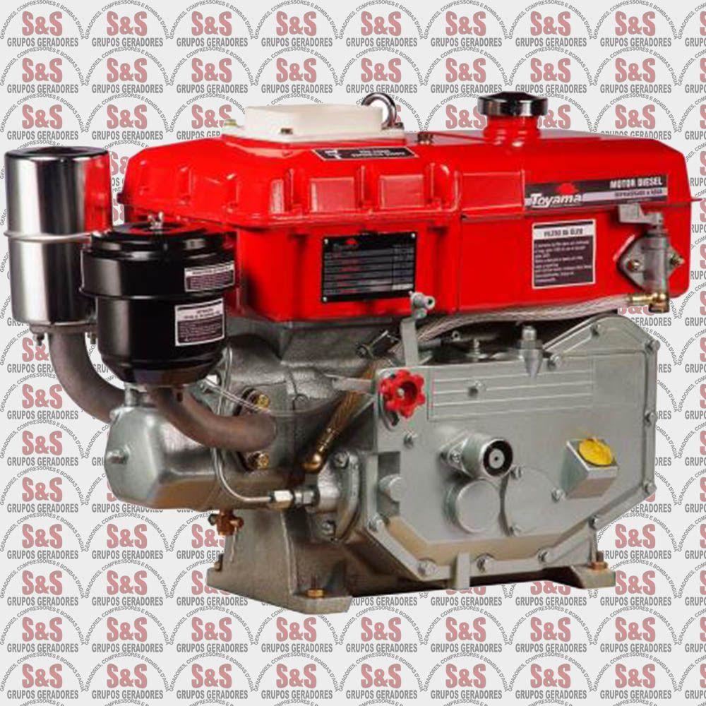 Motor a Diesel - 4 Tempos - 7.7 HP - Refrigerado a água - TDW8-XP- Toyama