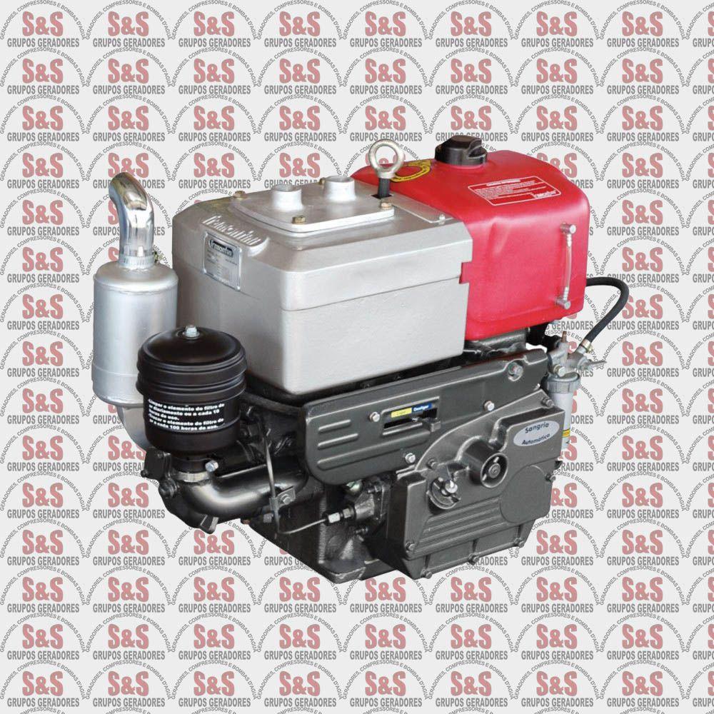 Motor a Diesel - 4 Tempos - Refrigerado a Ar - 8.2 CV - Partida Manual - Horizontal - TR12S - Tramontini