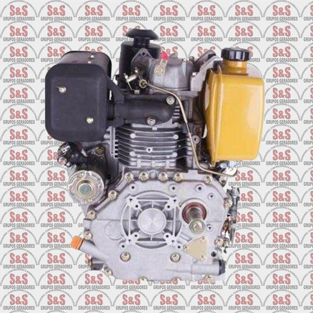 Motor a Diesel de 10,0 CV a 1800 rpm - BFDE10,0 -Partida Eletrica - Com Redutor - Buffalo