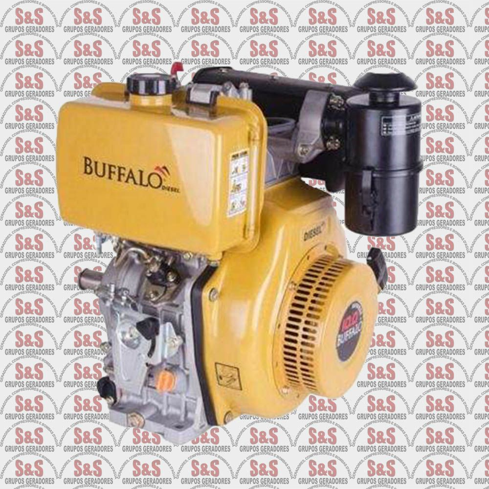 Motor a Diesel de 10,0 CV a 3600 rpm - BFDE10,0 -Partida Eletrica - Filtro de Ar Seco - Buffalo
