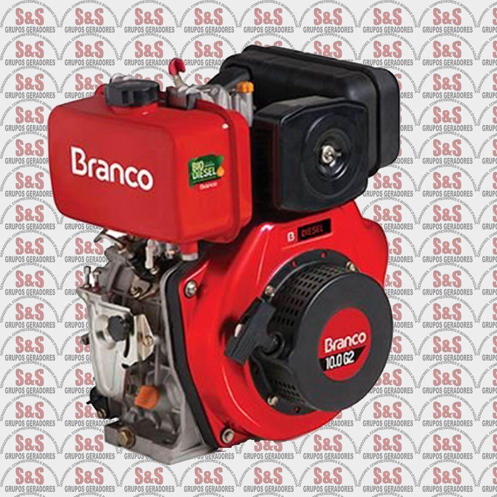 Motor a Diesel de 10,0 CV - Partida Eletrica - BD10,0 G2 - Branco
