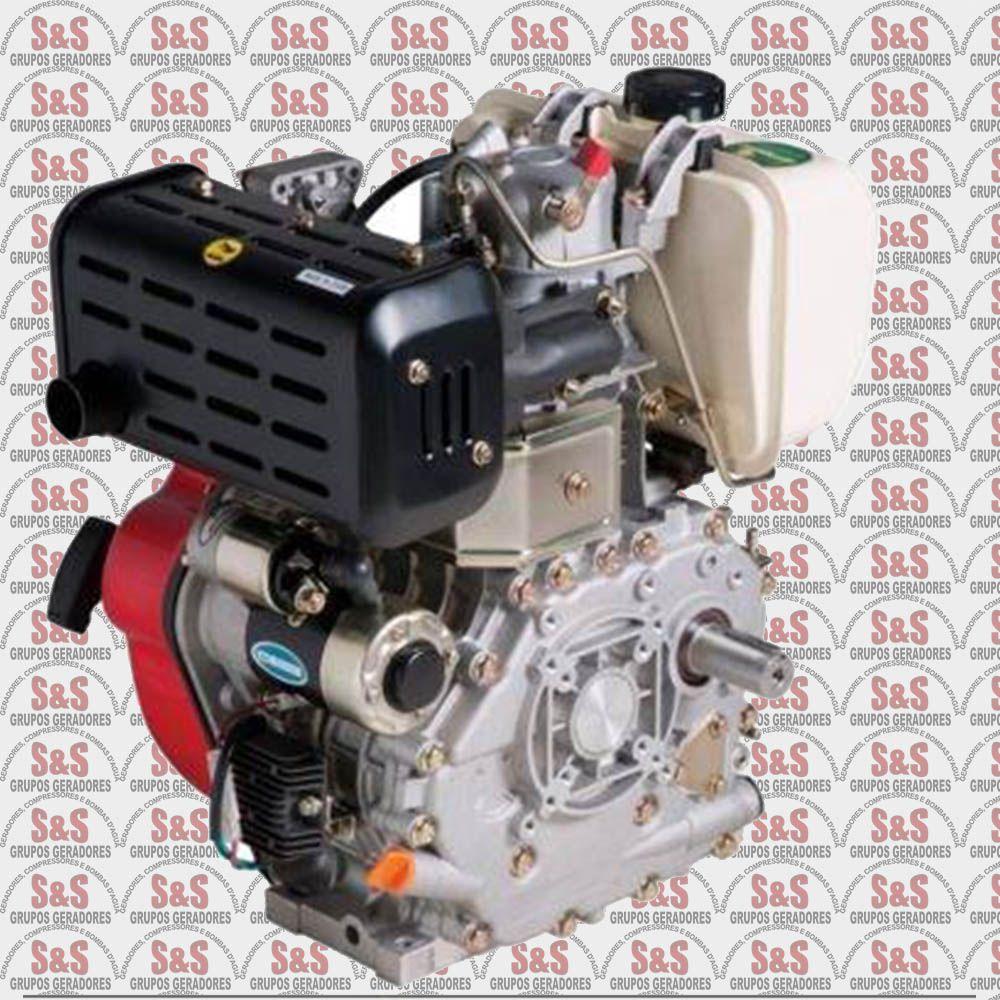 Motor a Diesel de 10,0 CV - Partida Elétrica - BD10,0 R - Branco