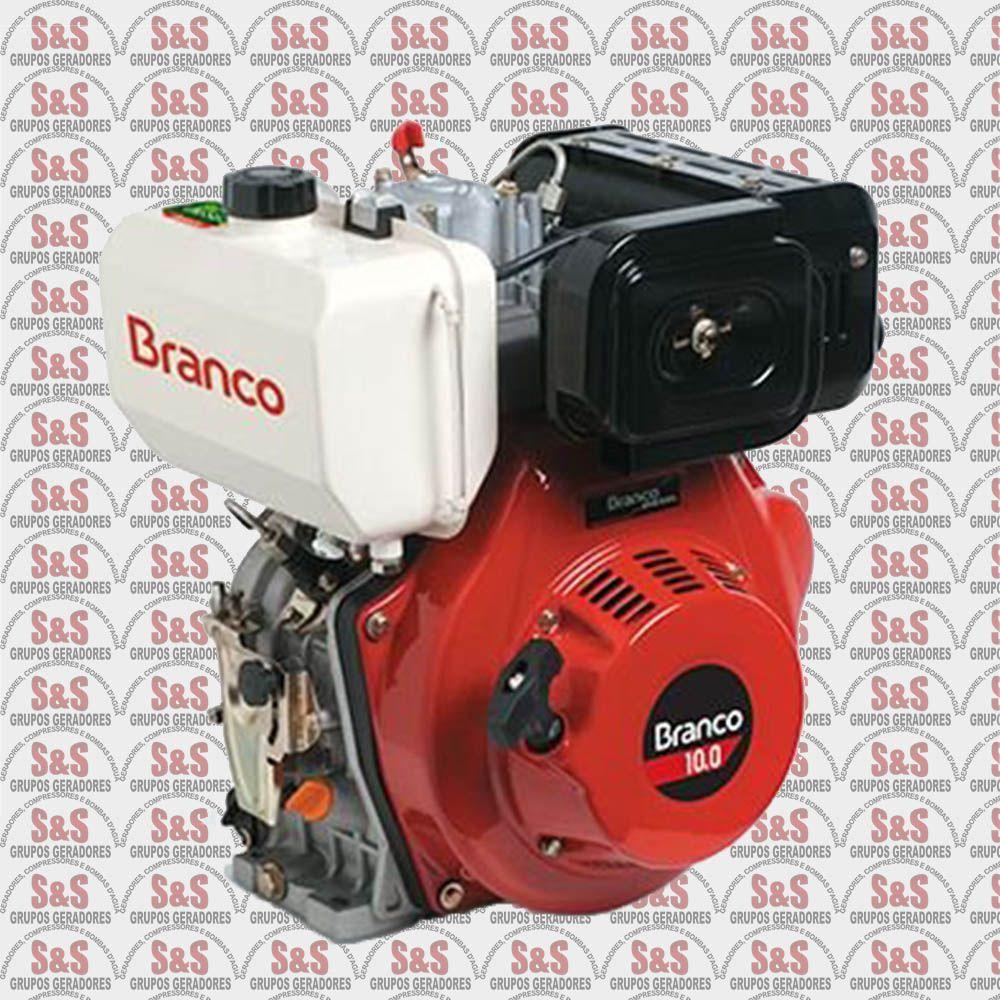 Motor a Diesel de 10 CV - Partida Elétrica - BD10,0 G1 - Branco