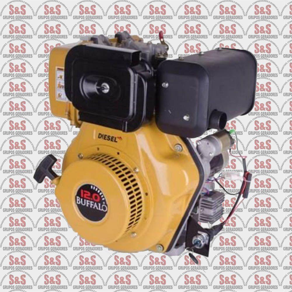 Motor a Diesel de 12,0 CV a 3600 rpm - Partida Manual / Eletrica - BFDE12,0 - Buffalo