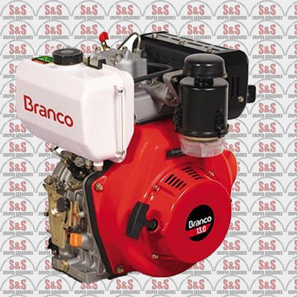 Motor a Diesel de 13,0 CV - Partida Manual - BD13,0 - Branco