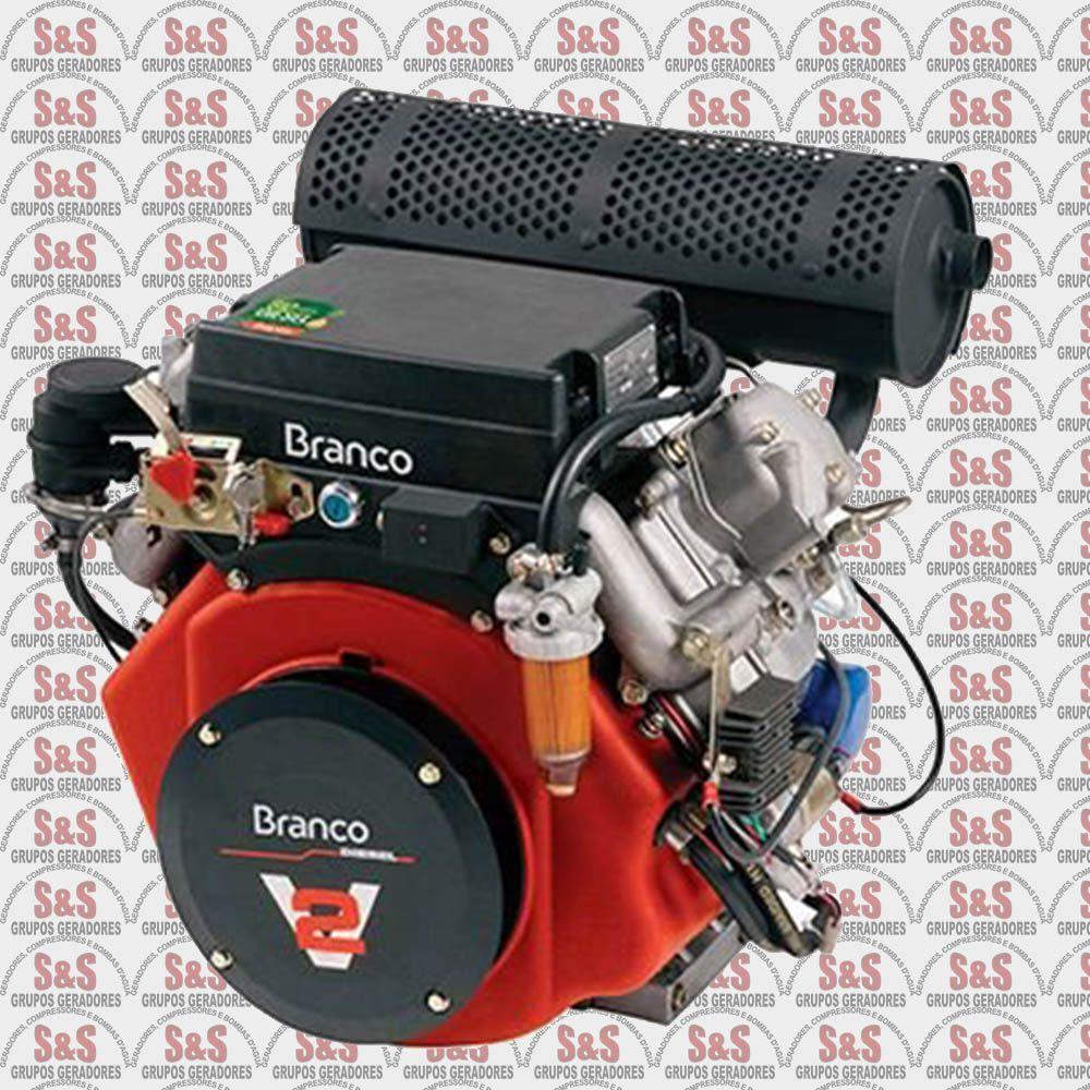 Motor a Diesel de 22,0 CV - Partida Eletrica - BD22,0 G2 - Branco