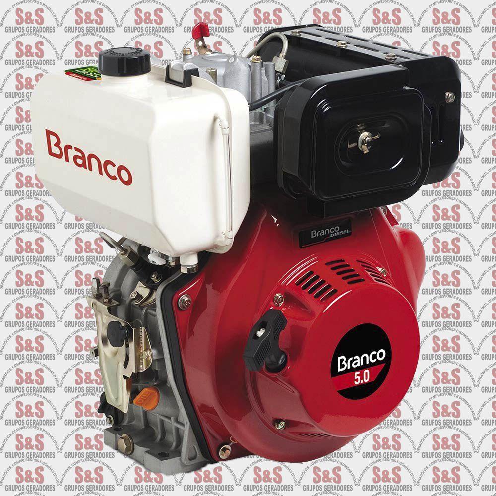 Motor a Diesel de 5,0 CV - Partida Elétrica - BD5,0 - Branco
