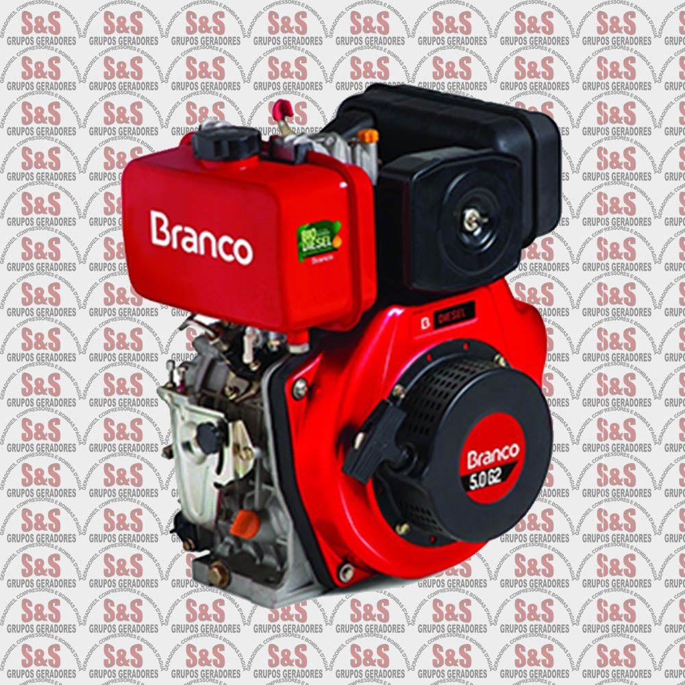 Motor a Diesel de 5,0 CV - Partida Manual - BD5,0 G2 - Branco