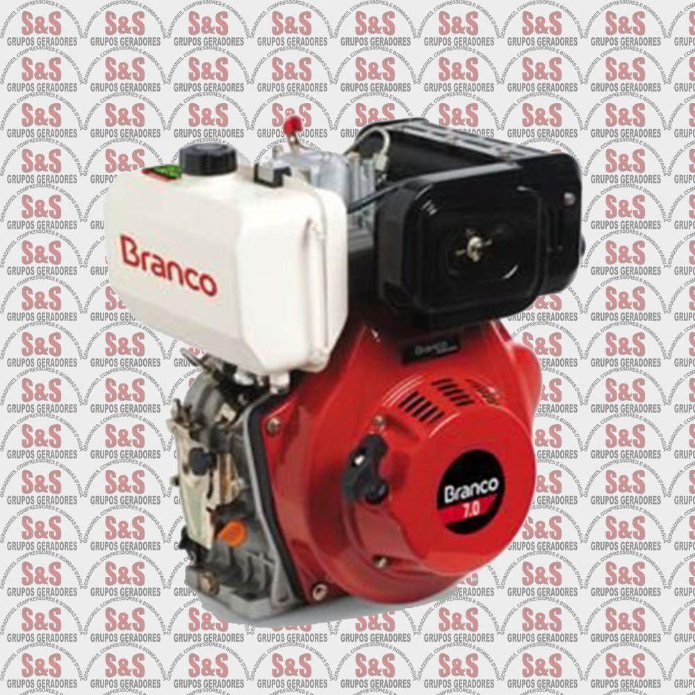 Motor a Diesel de 7,0 CV - Partida Elétrica - BD7,0 - Branco