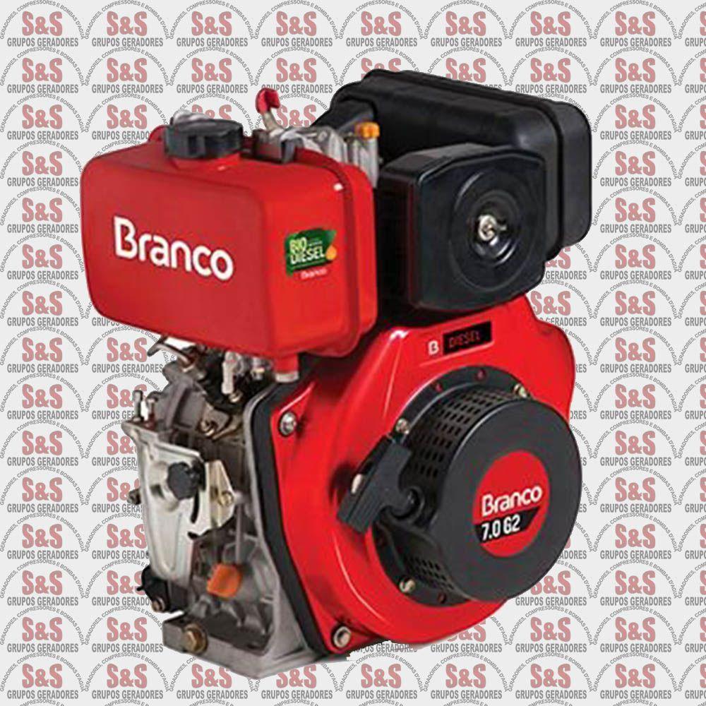 Motor a Diesel de 7,0 CV - Partida Eletrica BD7,0 G2 - Branco