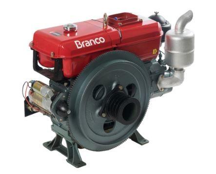 Motor a Diesel Refrigerado a Água com Partida Elétrica- BRANCO